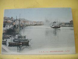 62 950 CPA COLORISEE. PRECURSEUR - BOULOGNE SUR MER. LE PORT - BATEAUX - Boulogne Sur Mer