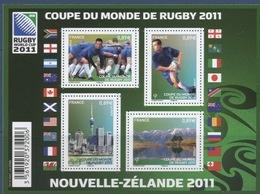 F 4576 Coupe Du Monde De Rugby Faciale 4 X 0,89 € - Blocs & Feuillets