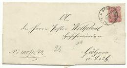 DR EKS Stralsund Auf Brief 10 Pfg 2.12.1879 Nach Gülzow Bei Loitz - Deutschland