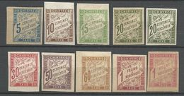 TAXE N° 18 à 26 NEUF* AVEC OU TRACE  CHARNIERE / MH - Postage Due