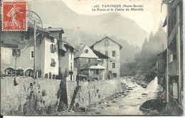 Cpa TANINGES : Le Foron Et La Chaine De Marcelly  1909 - Taninges