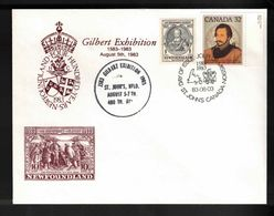 CANADA FDC Scott # 995 & NL # 212 - Gilbert Exhibition Special Cancels - 1981-1990