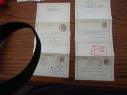 4 Cartes Lettres N° 40: FN, NF, F Et N (une De Complaisance) - Stamped Stationery