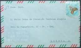 Angola - Cover To Portugal 1973 Fossil Shark Tooth 3$50 Solo - Fossils