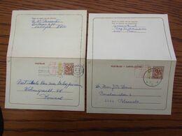 2 Cartes Lettres N° 41: N Et NF. Oblitérées De Boom En 1972 Et Koksijde En 1973. - Stamped Stationery