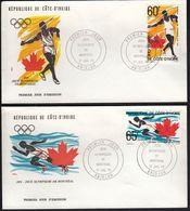 Ivory Coast 1976 / Olympic Games Montreal, Canada / Mi 491-492 / FDC - Costa D'Avorio (1960-...)