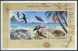269 - SAINT VINCENT GRENADINES 1998 - Yvert 3475/80 En BF - Oiseau Lezard Tortue - Neuf ** (MNH) Sans Trace De Charniere - St.Vincent E Grenadine