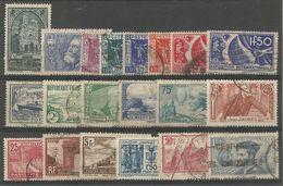France - Lot De 20 Timbres Obl. - Reims, Jaurès, Normandie, Delessert, De Rozier, Cartier,... - Used Stamps