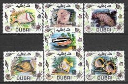 USED STAMPS UAE , DUBAI FISHES - Dubai