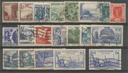 France - Lot De 20 Timbres Obl. - Delessert, Daudet, Chamonix, Descartes, Constitution, Arago, Marly, New-York, ... - Used Stamps