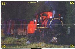 Train, CTOA, 4 Prepaid Calling Cards $5, PROBABLY FAKE, # Tren-3 - Eisenbahnen