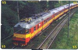 Train, CTOA, 4 Prepaid Calling Cards $5, PROBABLY FAKE, # Tren-8 - Eisenbahnen
