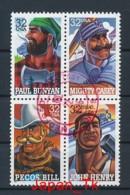 USA Mi. Nr. 2746-2749 Volkstümliche Heldenfiguren - Used - Etats-Unis