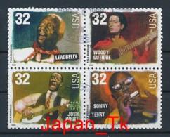 USA Mi. Nr. 2979-2983 Amerikanische Musikgeschichte: Folkmusiker - Used - Etats-Unis