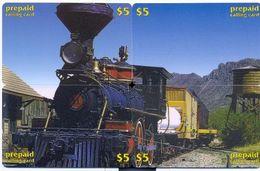 Train, CTOA, 4 Prepaid Calling Cards $5, PROBABLY FAKE, # Tren-9 - Eisenbahnen