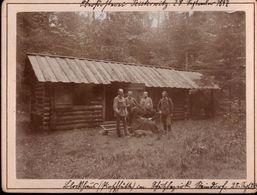 ! 2 Alte Fotos Auf Hartpappe, Photos, Oberförsterei Peisterwitz B. Ohlau, Bystrzyca,  Schlesien, 1897, Format 9 X 12 Cm - Schlesien
