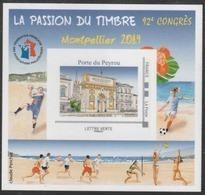 Année 2019 - Feuillet Souvenir De La FFAP - N°16 - La Passion Du Timbre - Montpellier 2019 - FFAP