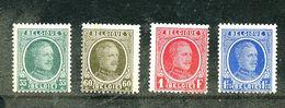 Belgique COB 254/57 ** - 1922-1927 Houyoux