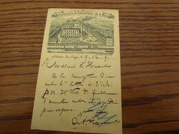 Superbe REPIQUAGE (recto Et Verso) Sur Un Entier Postal De 5C De 1893: Manufacture De Caoutchouc De La Meuse à SCLESSIN - Stamped Stationery