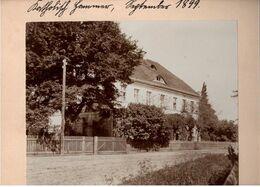 ! 3 Alte Fotos Auf Hartpappe, Photos, Oberförsterei Katholisch Hammer Bei Trebnitz In Schlesien, 1899, Format 16 X 12 Cm - Poland