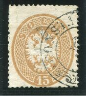 LEVANT 1864 Double Eagle In Oval  15 Soldi Of Lombardy Venetia Used In Constantinople.  Michel V18 - Levant Autrichien