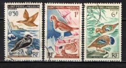 ST. PIERRE & MIQUELON - 1963 - UCCELLI MARINI - USATI - Oblitérés