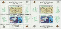 Europa 2006 ** Chypre Turk N° BF 23 + 23 A ND ** 50e Anniversaire Des Premieres émissions Europa - Europa-CEPT