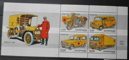 Denmark 2002, Postal Vehicles, MNH S/S - Unused Stamps