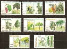 Rwanda Ruanda 1984 OBCn° 1186-1193 *** MNH  Cote 11 Euro Flore Arbres Bomen Trees - Rwanda