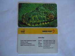 SWITZERLAND GERMANY  PREPAID  CARDS CROCODILE  SWISS POST 2 SCAN - Switzerland
