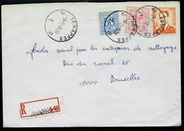 Doc. De JEMAPPES - D 1 D - Du 06/01/75 En Rec. ( E ) - Marcophilie