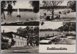 Rheinsberg Zechlinerhütte - S/w Mehrbildkarte 3 - Rheinsberg