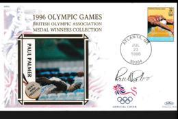 USA Cover 1996 Atlanta Olympic Games - British Medal Winner Paul Palmer With His Signature (NB**LAR9-159) - Sommer 1996: Atlanta