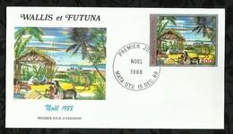 NOËL . 15 DECEMBRE 1988 . MATA - UTU . - FDC