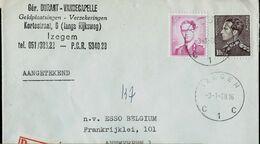 Doc. De IZEGEM - C 1 C - Du 03/01/68  En Rec. ( E ) - Postmark Collection
