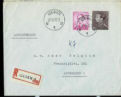 Doc. De IZEGEM - D 1 D - Du 27/05/66 En Rec. ( E ) - Postmark Collection