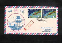 Romania 1991 Flight Bucarest - Bacau - 1948-.... Républiques