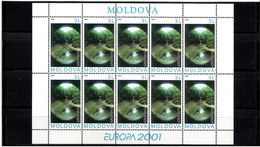 Moldova 2001 . EUROPA 2001 (Water). Sheetlet Of 10 Stamps.  Michel # 388 KB - Moldavia