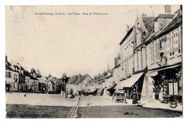 Courtenay - La Place Et Rue De Villeneuve - Courtenay