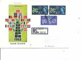 Guernesey - Herm Island  ( Fdc De 1962 Voyagé En Recommandé Vers L'Allemagne à Voir) - Guernsey