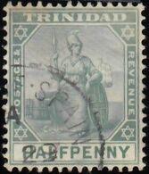 TRINIDAD - Scott #75 Britannia / Used Stamp - Trinidad & Tobago (...-1961)