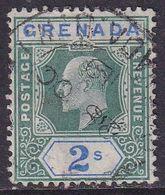 GRENADA 1906 SG 74a 2sh Used (chalk-surfaced Paper) Wmk Mult.Crown CA CV £80 - Grenada (...-1974)