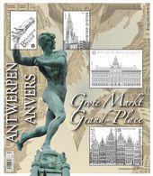Blok 219** De Antwerpse Grote Markt 4440/44** / La Grand Place D'Anvers - Bélgica