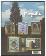 Bloc 151** René Magritte 3742/46  Feuille Non Dentelée - Blok 151 MNH Ongetand - Imperforated Sheet - Belgien