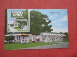 Crosby's Motel  Alma Georgia   Ref 4264 - Etats-Unis