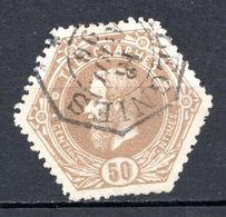 BELGIQUE - 1871-88 - Timbres Télégraphe - N° 5 - 50 C. Bistre - (Léopold II) - Telegrafo