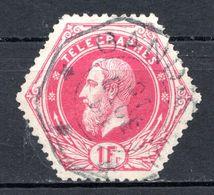 BELGIQUE - 1871-88 - Timbres Télégraphe - N° 6 - 1 F. Rose - (Léopold II) - Telegrafo