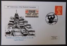 80th Anniversary Dunkirk Evacuation Postal Card Ww2 Wwii Ships - Autres