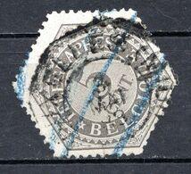 BELGIQUE - 1879-91 - Timbres Télégraphe - N° 8 - 5 C. Gris - (Chiffre) - Telegrafo