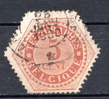 BELGIQUE - 1879-91 - Timbres Télégraphe - N° 9 - 5 C. Rouge-brun - (Chiffre) - Telegrafo